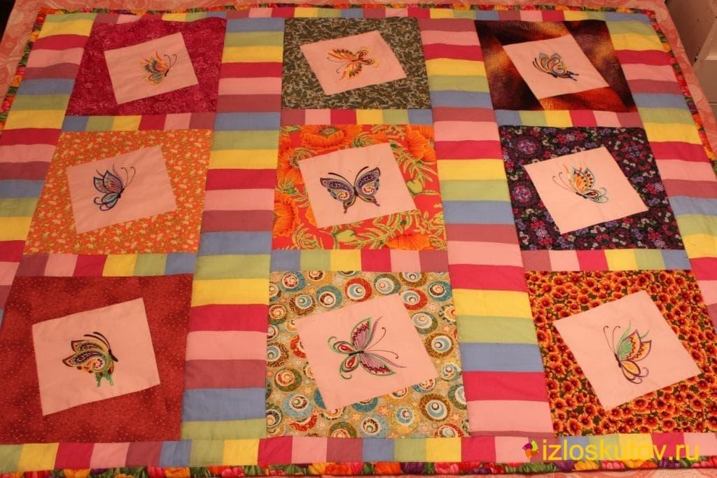 """Лоскутное одеяло для девочки """"Кристина"""" №116"""