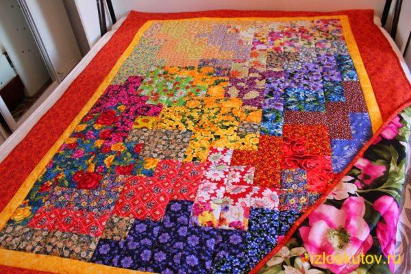 """Лоскутное одеяло """"Разноцветье"""" № 136"""