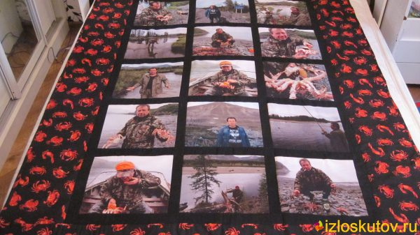 """Лоскутное одеяло с фотографиями """"Камчатка"""" № 162"""