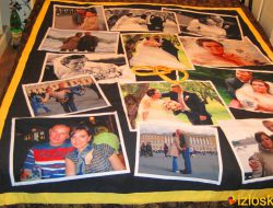 """Лоскутное покрывало с фотографиями """"Ситцевая свадьба"""" № 169"""