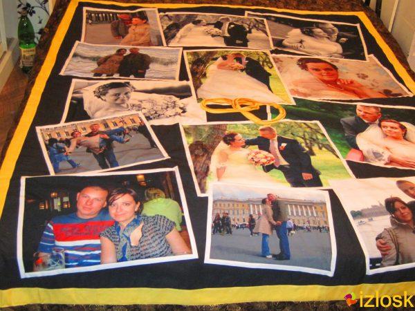 Лоскутное одеяло / покрывало / плед с фото