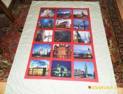 """Лоскутное покрывало с фотографиями """"Лондон"""" № 171"""