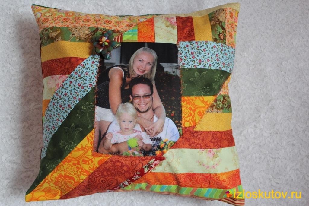 Как можно сделать подушку с фотографией 656