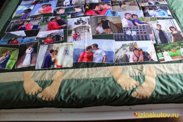 """Лоскутное покрывало с фотографиями """"Фото-пара"""" № 217"""