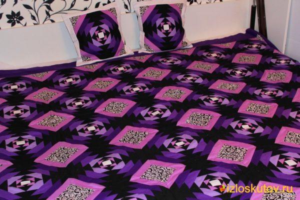 """Лоскутное покрывало """"Фиолет"""" № 226"""