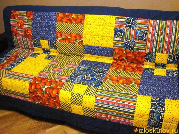"""Комплект на кухню покрывало, подушки и сидушки """"Паприка"""" №87"""