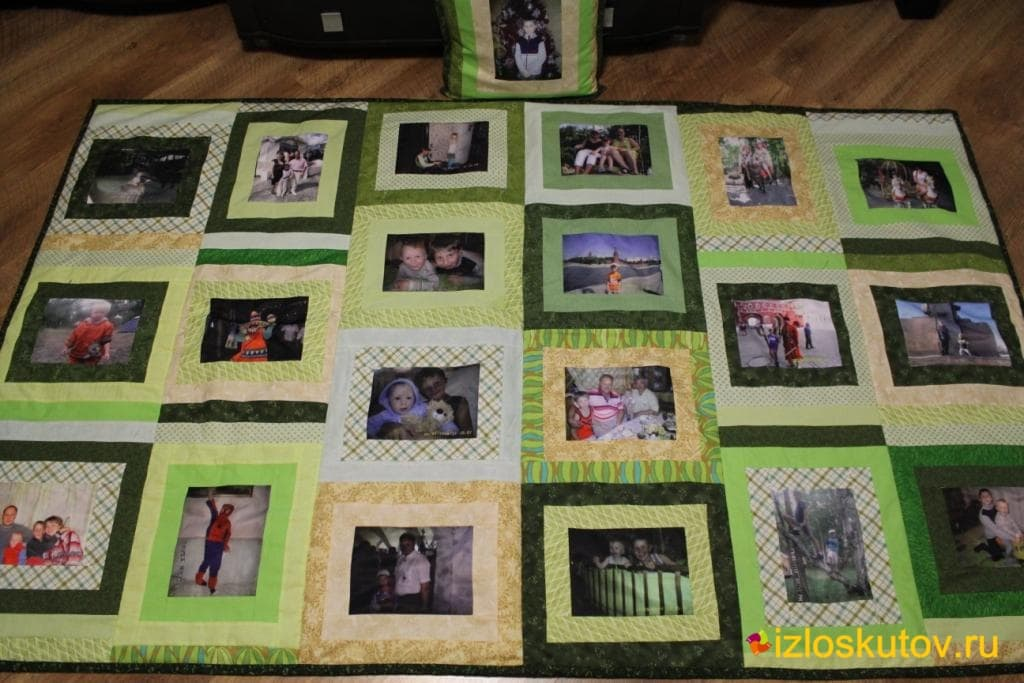 """Лоскутное покрывало с фотографиями """"Кузнечик"""" № 98"""