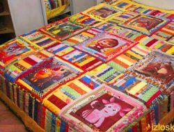 Детское лоскутное одеяло / покрывало / плед с фото