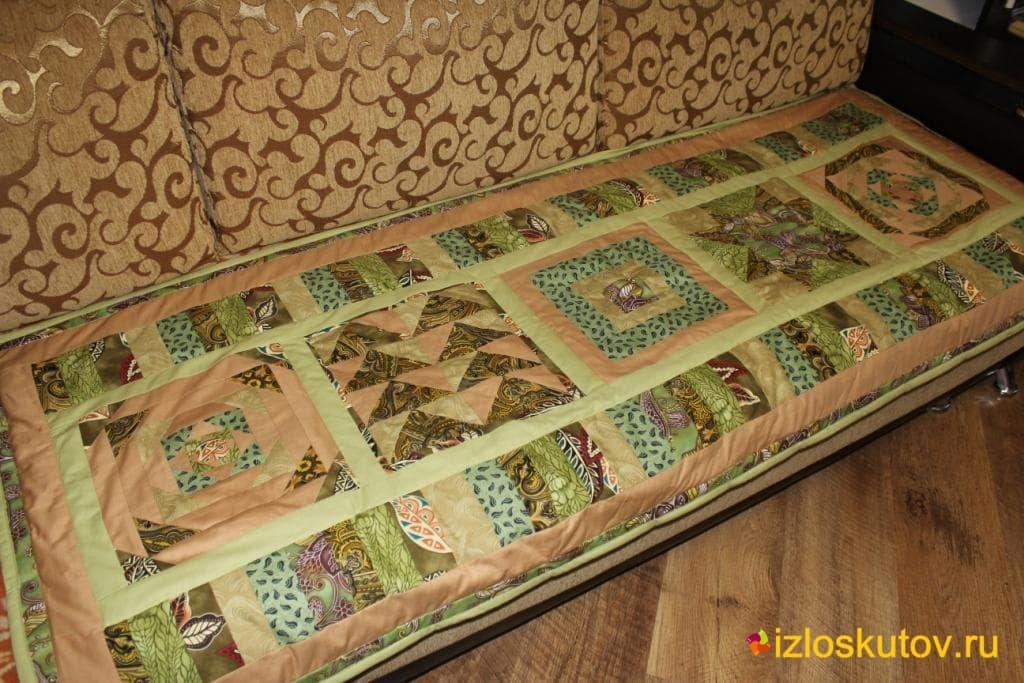 Плед на старый диван своими руками 54