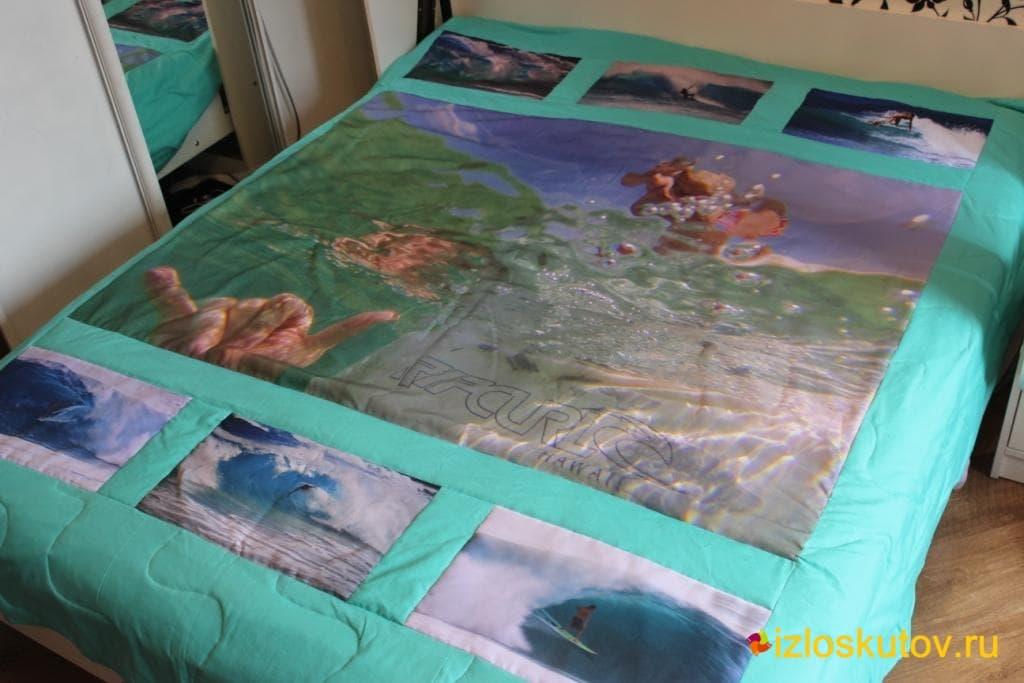 """Лоскутное покрывало с фото """"Тайны моря"""" № 298"""