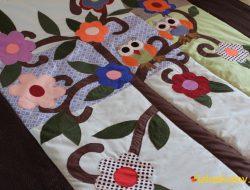 Детское лоскутное одеяло / покрывало / плед