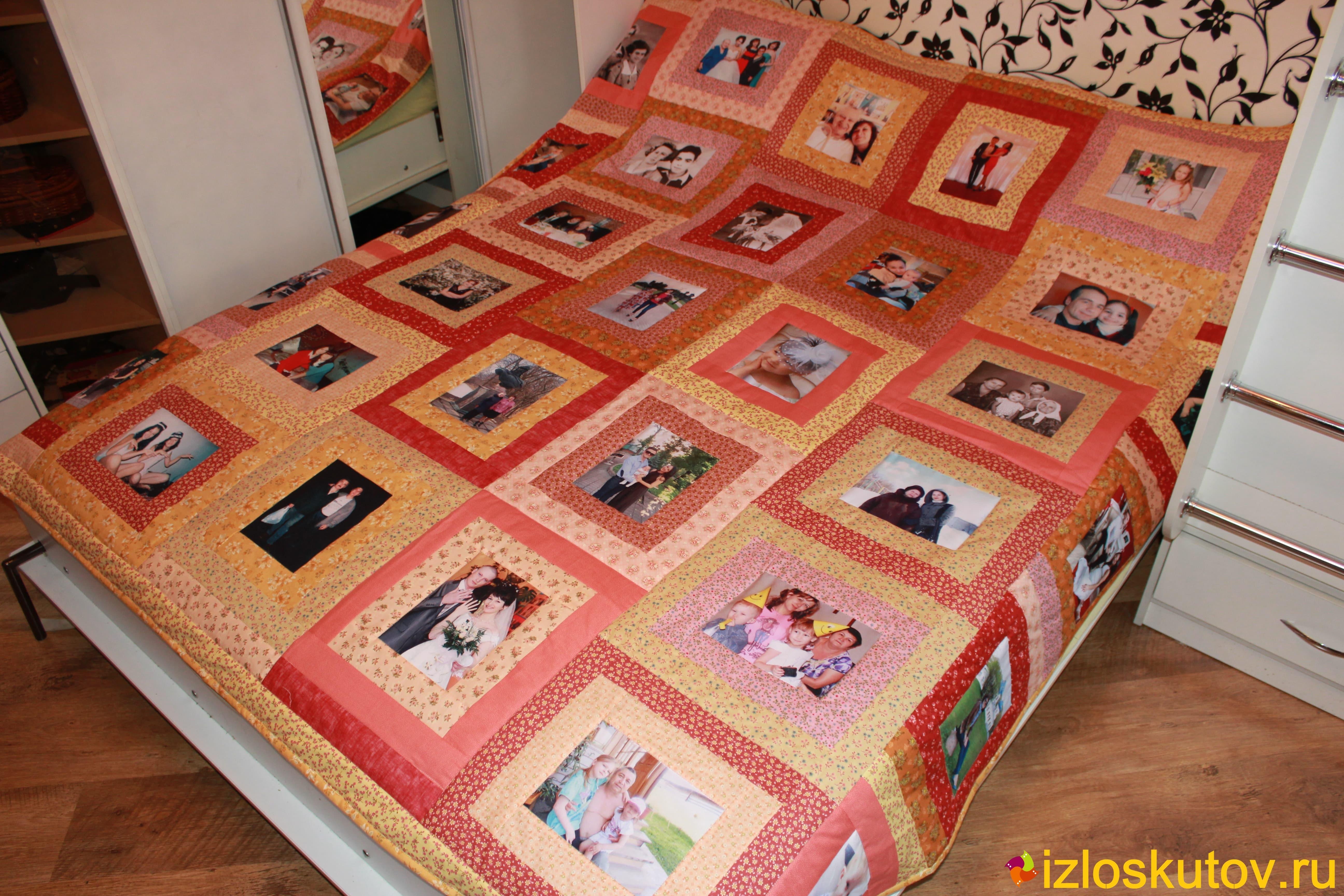"""Покрывало / одеяло / плед с фотографиями """"Семейное тепло"""" № 458"""