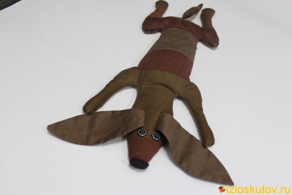 """Лоскутная игрушка """"Такса"""" № 659"""