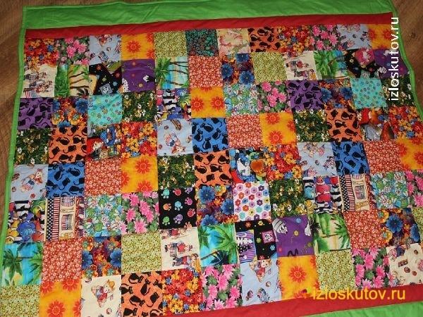 """Лоскутное одеяло """"Детский фейерверк"""" № 1088"""