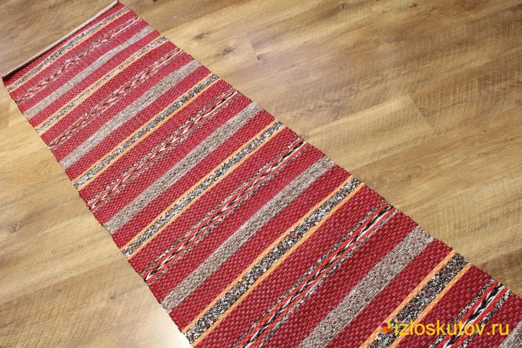 Домотканый половик «Рыжая коса» № 1578
