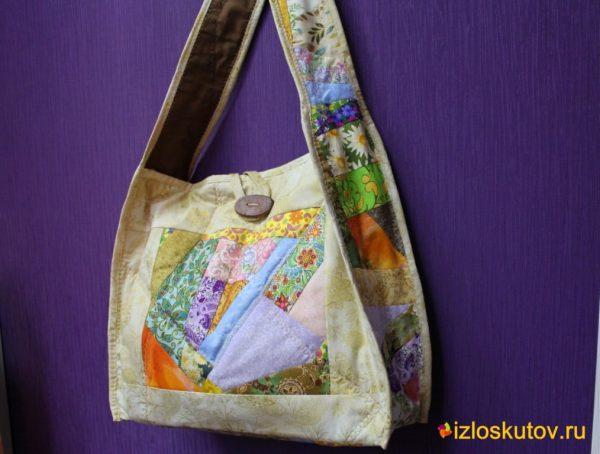 """Лоскутная сумка """"Мармелад"""" № 185"""