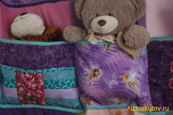 """Настенное панно с карманами для игрушек """"Сундучок"""" № 309"""