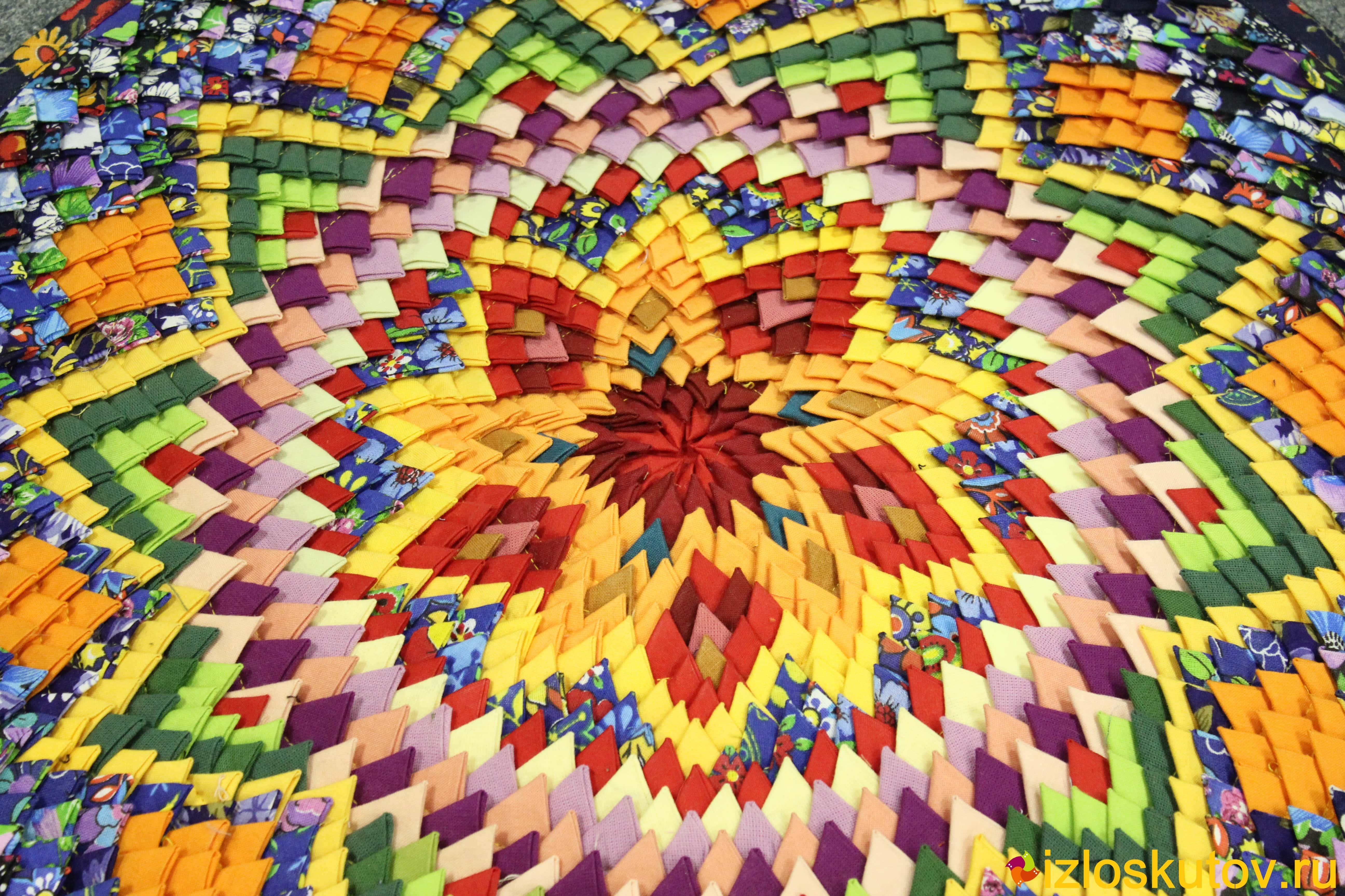 Коврик из квадратов ткани своими руками 42