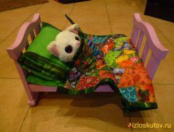 """Кукольный спальный комплект """"Ляля"""" № 411"""