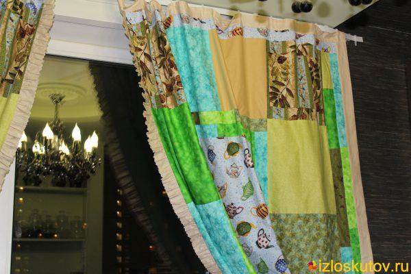 """Лоскутные шторы """"Чайная церемония"""" № 414"""