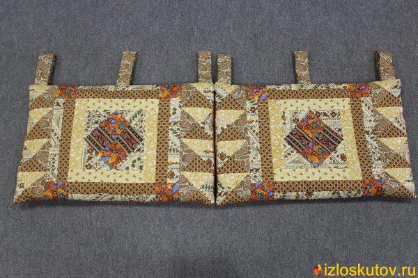 """Лоскутные подушки для спинки """"Лапоть"""" № 426"""