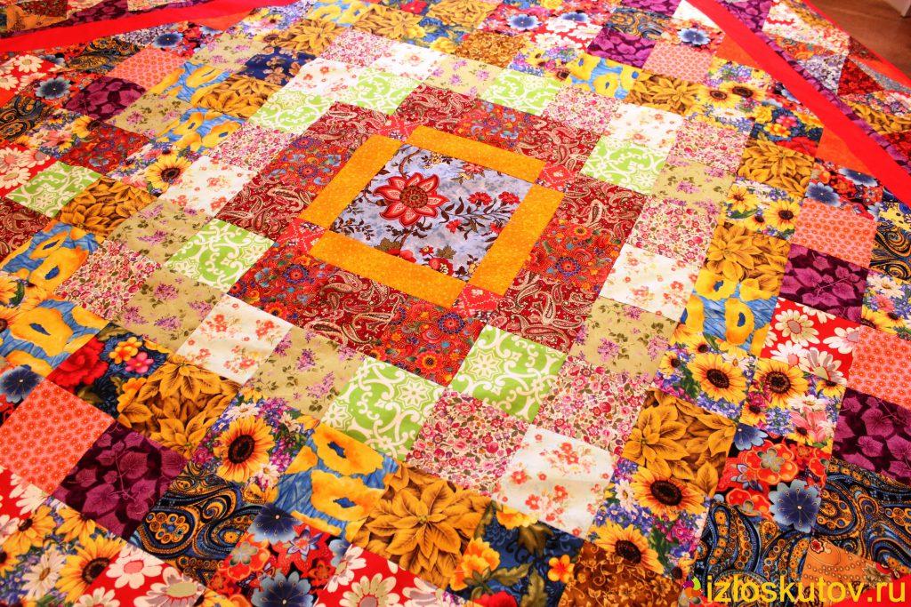 Лоскутное шитье одеяло своими руками 37