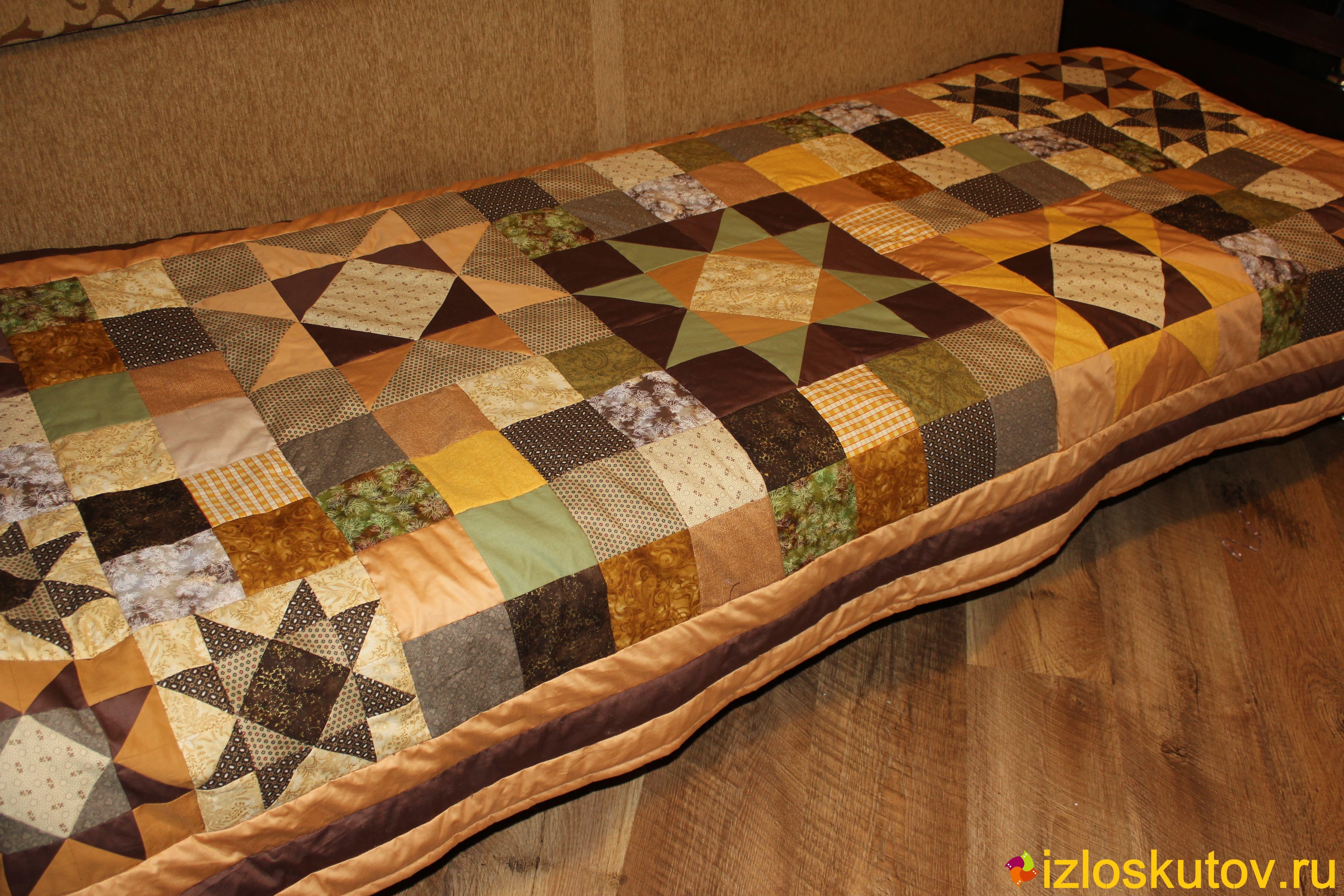 Плед на старый диван своими руками 74