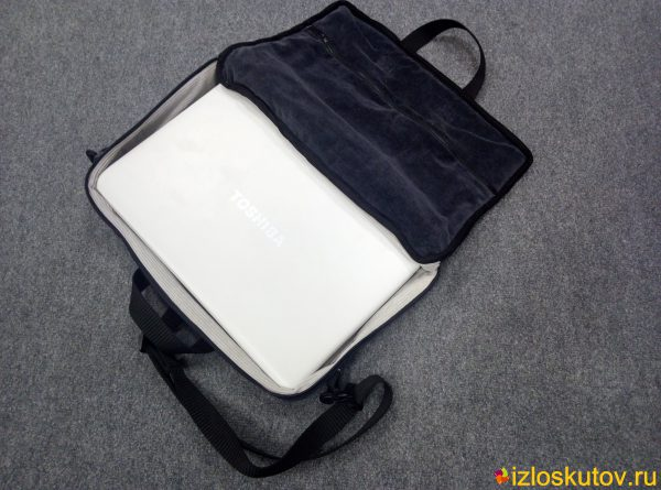 """Сумка для ноутбука """"Черно-белый вельвет"""" № 716"""