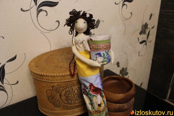 """Хранительница ватных палочек и дисков """"Из Таиланда"""" № 1570"""