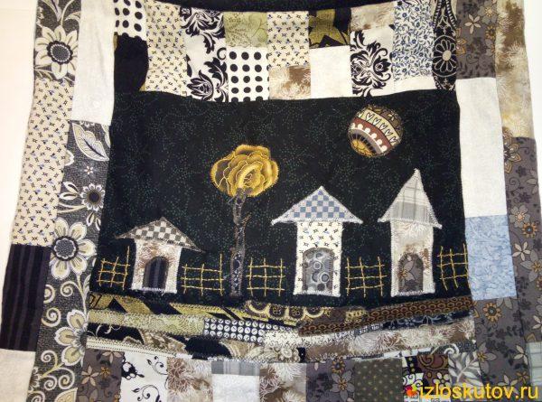 """Лоскутная сумка """"Старый сад"""" № 558"""