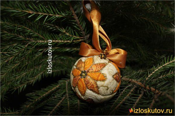"""Ёлочный шарик """"Роса"""" № 1242"""