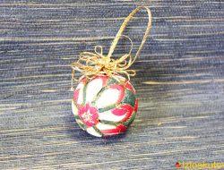 """Лоскутный шар """"Новогоднее золото"""" № 478"""