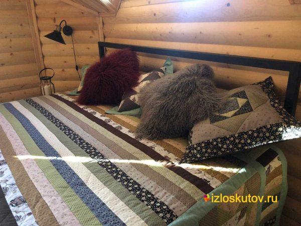 "Лоскутная наволочка ""Скандинавская мята"" № 759"